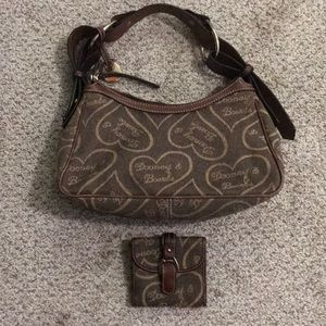 Dooney and Bourke hobo purse with wallet
